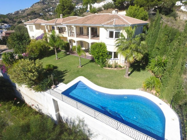 Modern & large Villa with panoramic views overlooking the Mediterranean Sea, Fuengirola town and, Spain