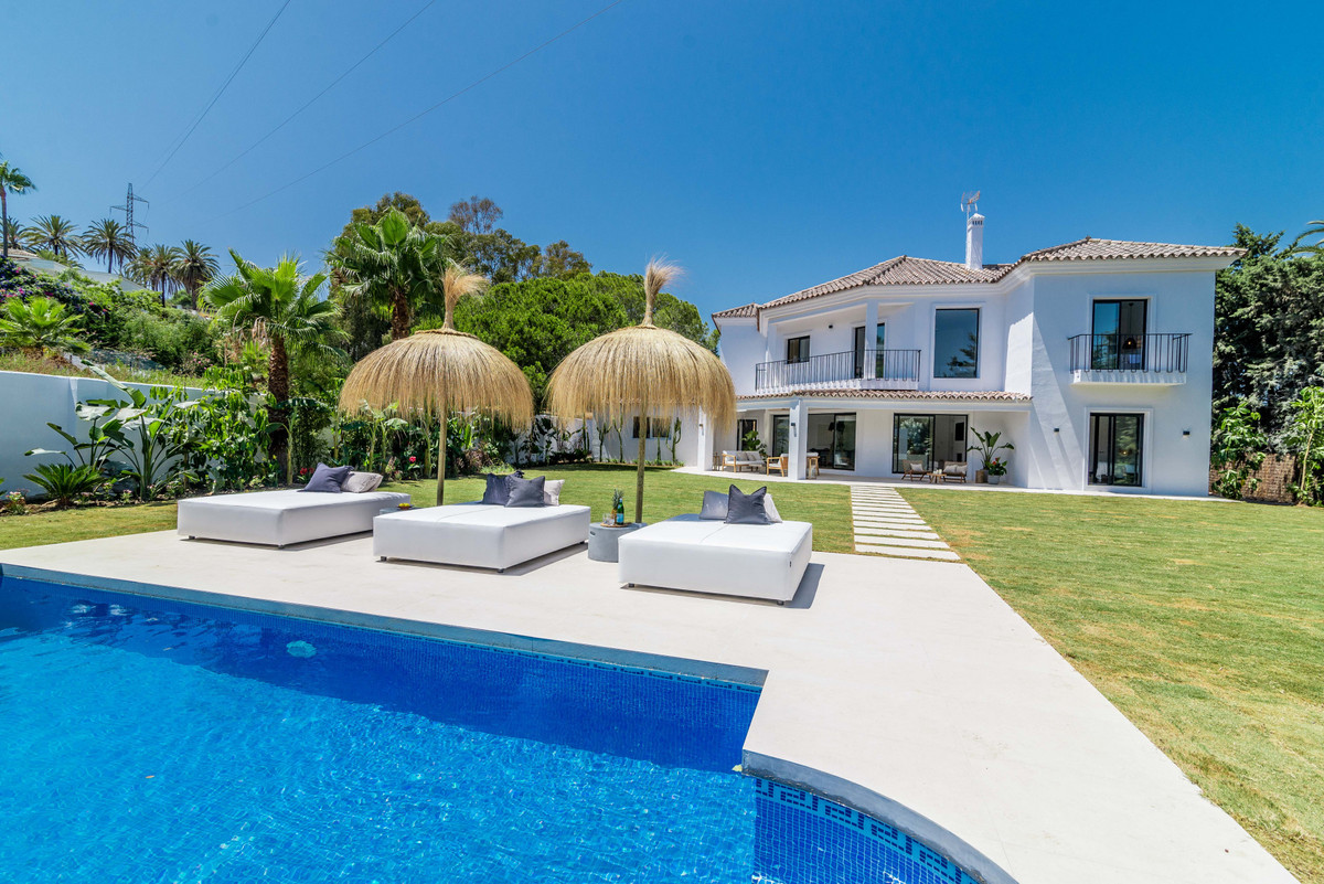 Situated in Nueva Andalucia, known as the Marbella Golf Valley, this villa is in a very quiet area a,Spain