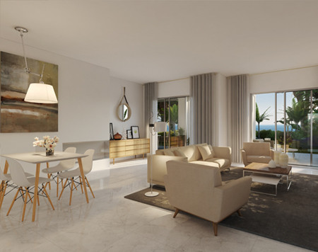 Luxury apartment complex where you can walk into Estepona town for shops, restaurants and beaches