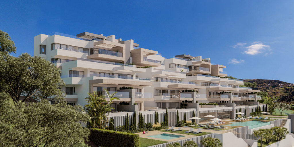 Brand new off-plan development above the marina of Estepona