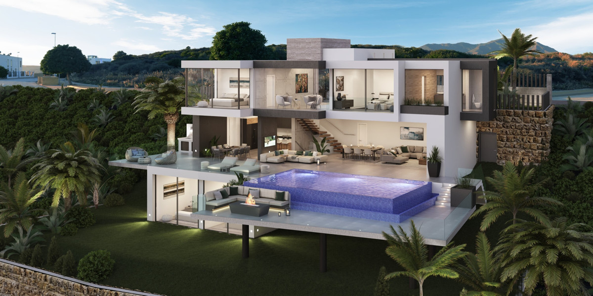 Modern Luxury Villa with Panoramic Views, Spectacular Terrace and Pool, Casares