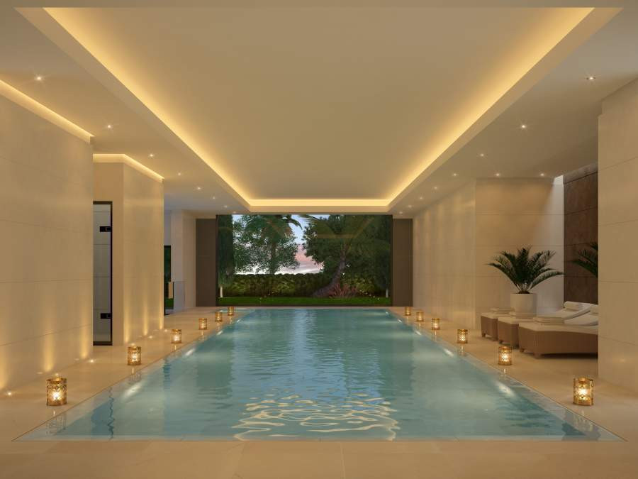 An exclusive PRIVATE CLUBHOUSE including INDOOR POOL, SPA AND GYM and social lounge