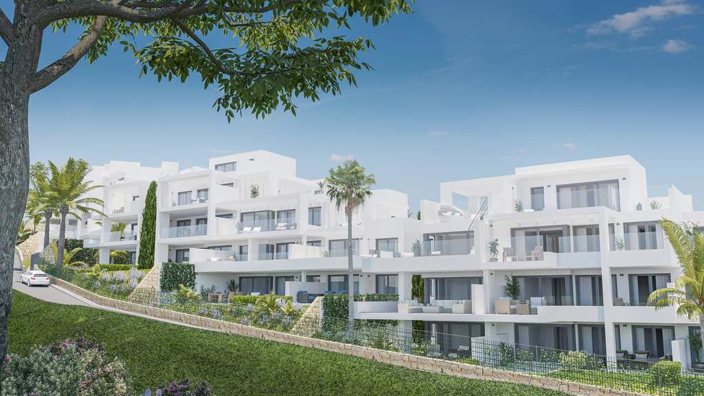 Modern and exclusive, designer apartments and penthouses located in the area of Estepona Golf