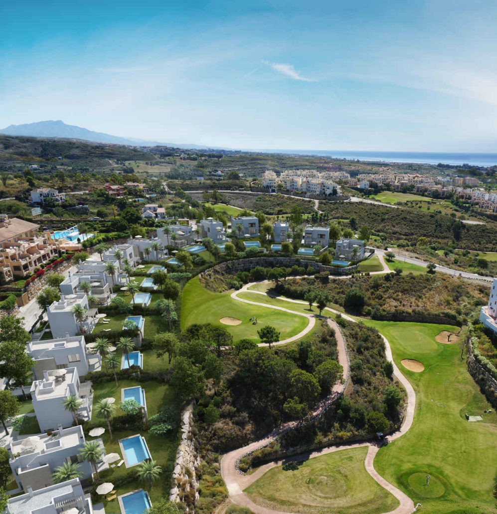 Stylish detached villas with beautiful views, overlooking golf course