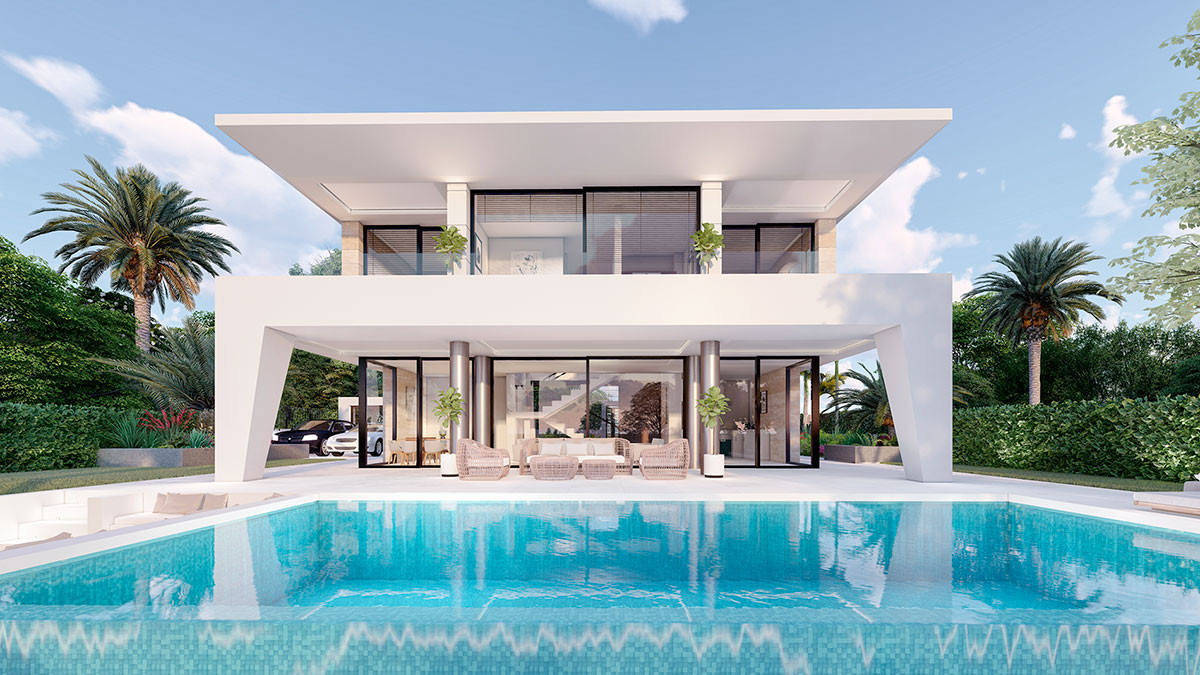 Panoramic views in your beautiful property contemporary styling