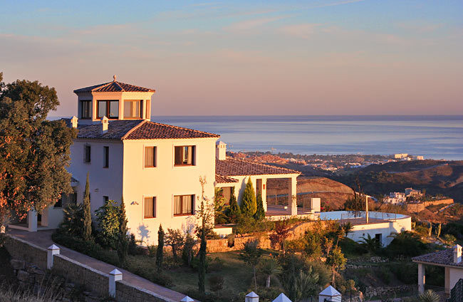Private location, panoramic views of the Costa del Sol
