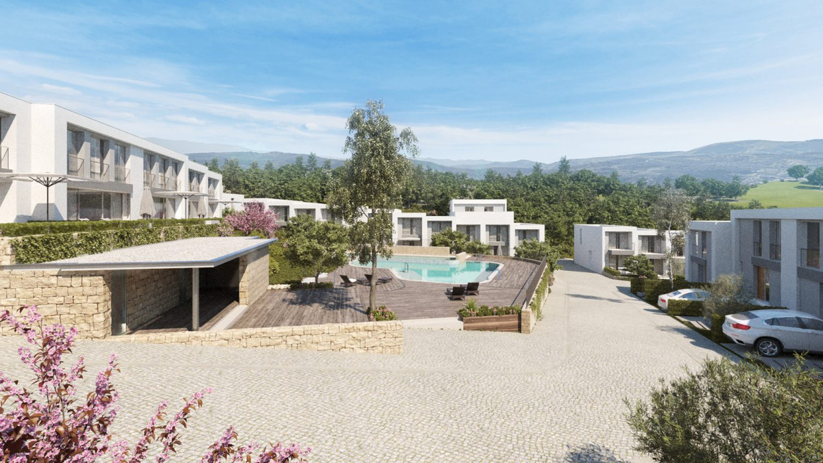 Luxury townhouses with beautiful views and swimming pools