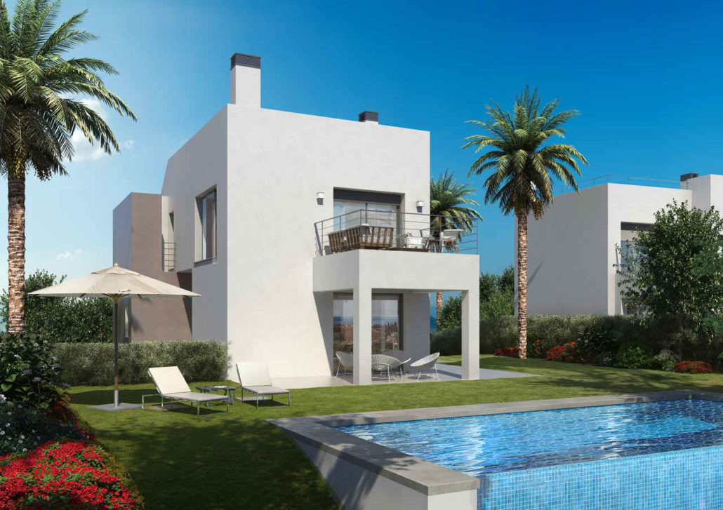Detached villa - timeless views and golf club