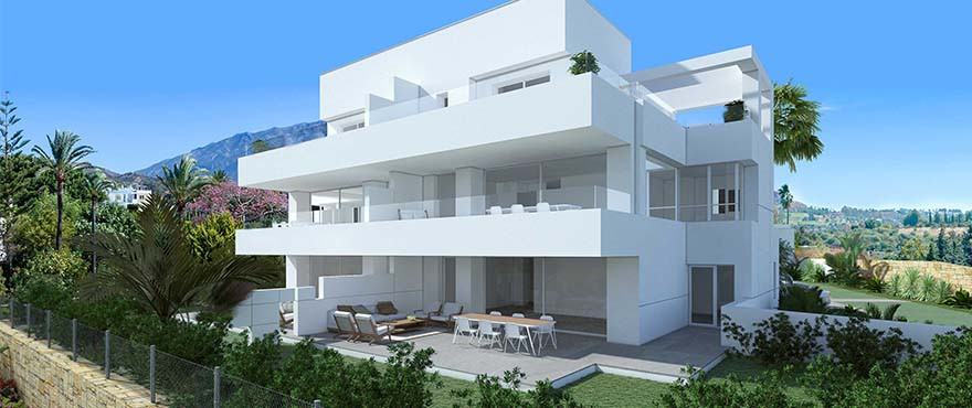 Located in Golf Valley, with incredible views over the sea and mountains