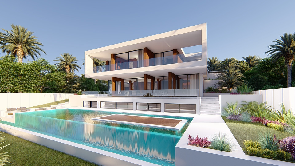 stunning architecture mixes the Mediterranean style with the newest and COOLEST TENDENCIES