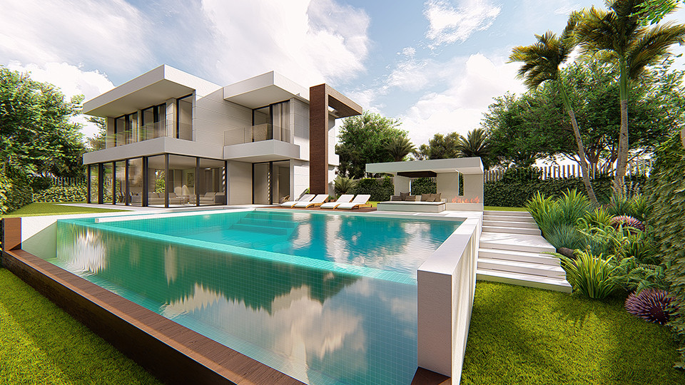 ULTRA CONTEMPORARY STYLING DESIGNED TO OPTIMISE PANORAMIC SEA VIEWS.