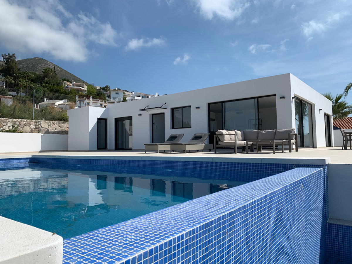 SOLE AGENCY  AMAZING VILLA with panoramic sea views over the bay of Fuengirola. Beautifully appointe,Spain