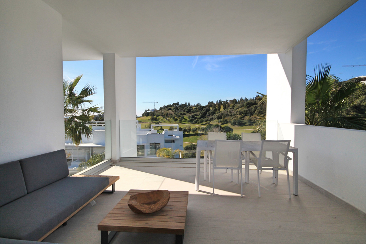 Brand new, modern two bedroom apartment with sea and golf views and high end designer furniture.  Th Spain
