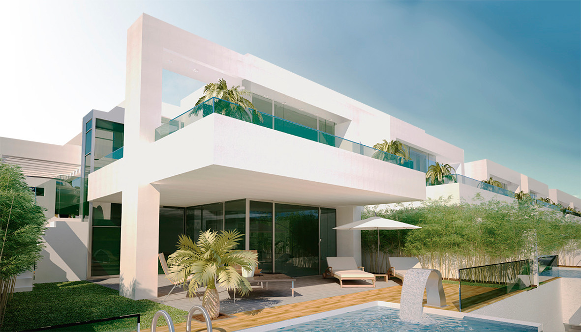 Contemporary Style Villas situated in a very quiet residential area, with sports facilities, tennis , Spain