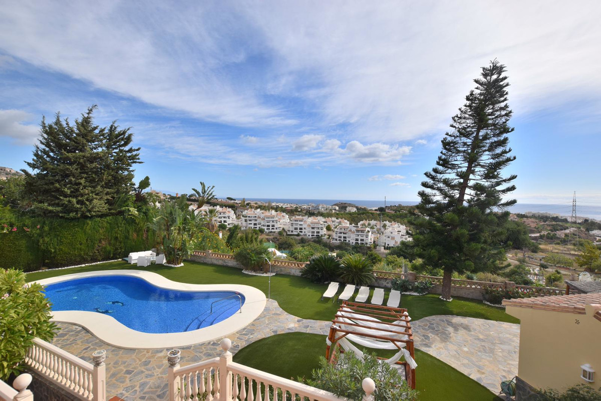 This detached, private villa in the beautiful Benalmadena Pueblo has amazing sea and mountain views,,Spain