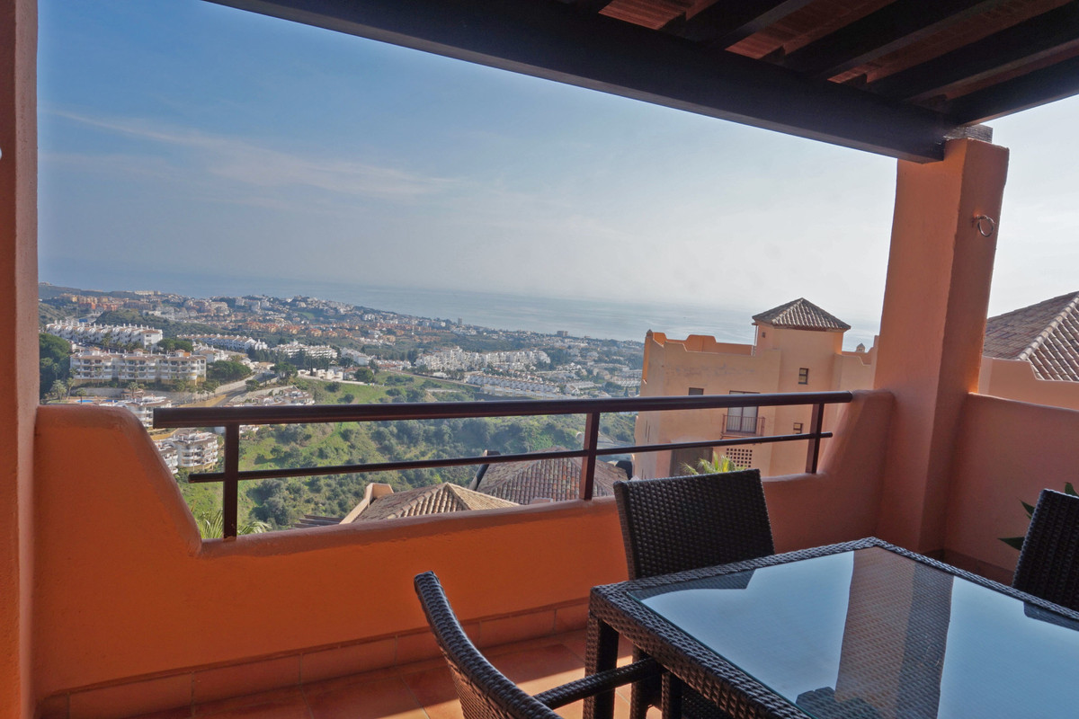 Lovely apartment with stunning panoramic sea views from all rooms. The living room and the master en, Spain