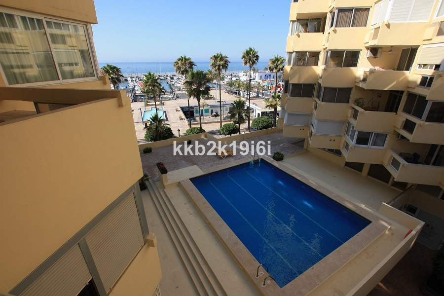 Lovely beachfront 75 sqm apartment on the Paseo Maritimo, across the Marina in Marbella city centre.,Spain
