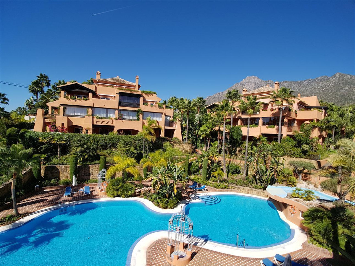 This apartment is situated in one of the best areas of Marbella surrounded by large luxury villas an,Spain
