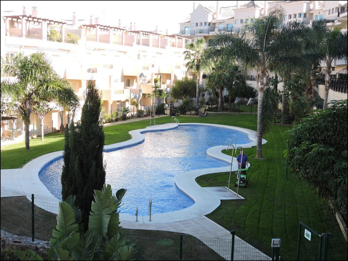 Two bedroom ,two bathroom  first floor apartment located in the popular gated complex of Duquesa Fai, Spain