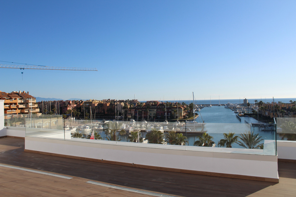 A magnificent luxury resale penthouse with amazing views towards the sea and the marina of Sotogrand,Spain