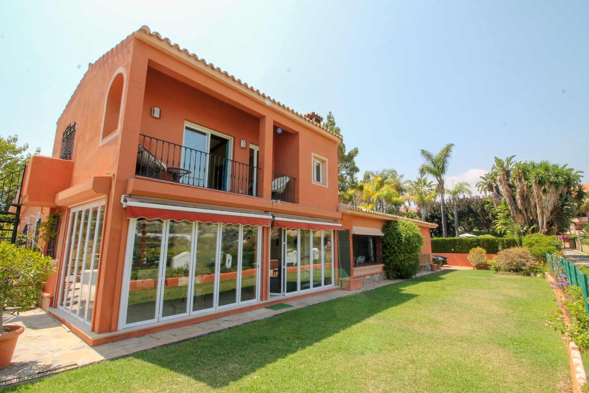 This stunning villa is set within the sought after community of Rio Real, East Marbella. The ground , Spain