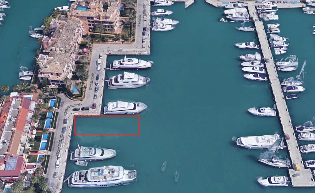 large mooring  35M X 8M  for sale from an approachable owner. In beside the super yachts,   the big , Spain