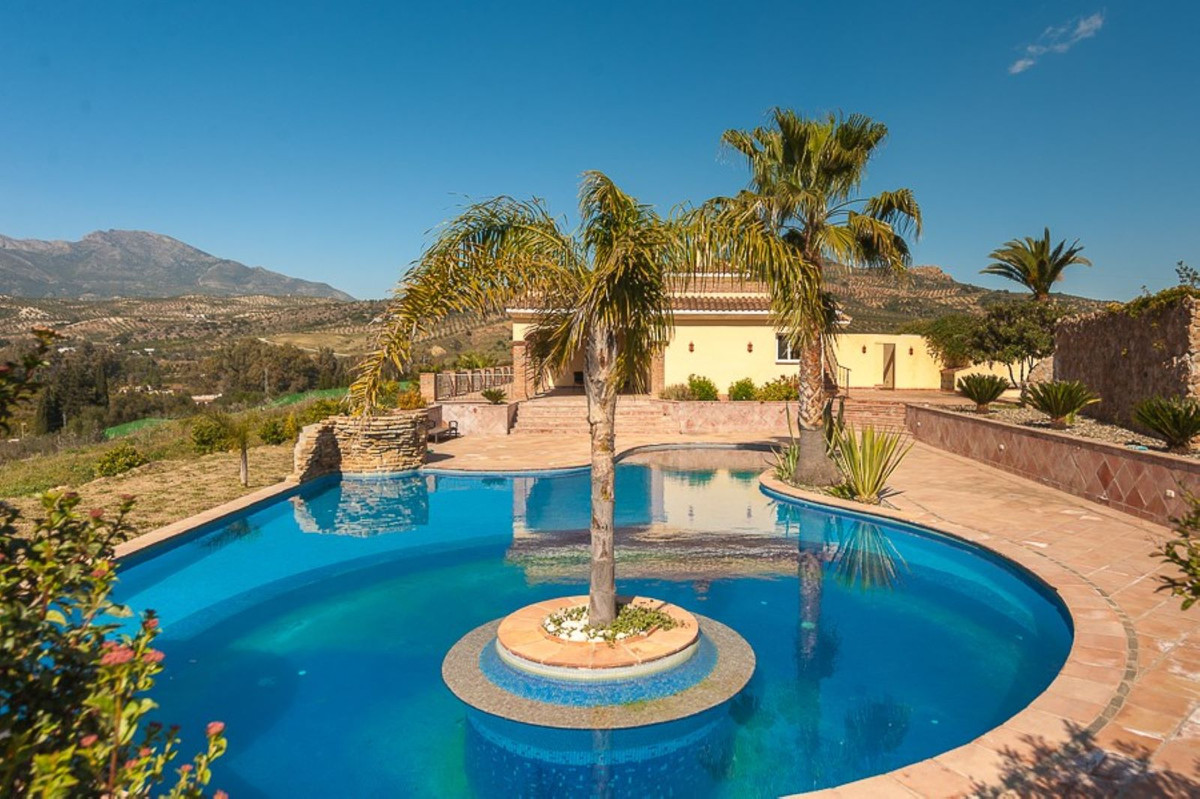 Very impressive spacious villa in a large subtropical garden with olive trees, fruit and almond tree,Spain