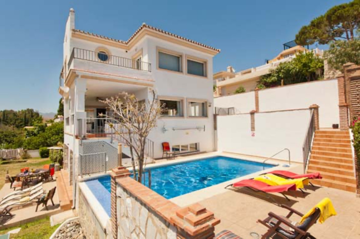 This modern, bright, large 6 bedroom, south facing villa with sea views is situated within the exclu,Spain