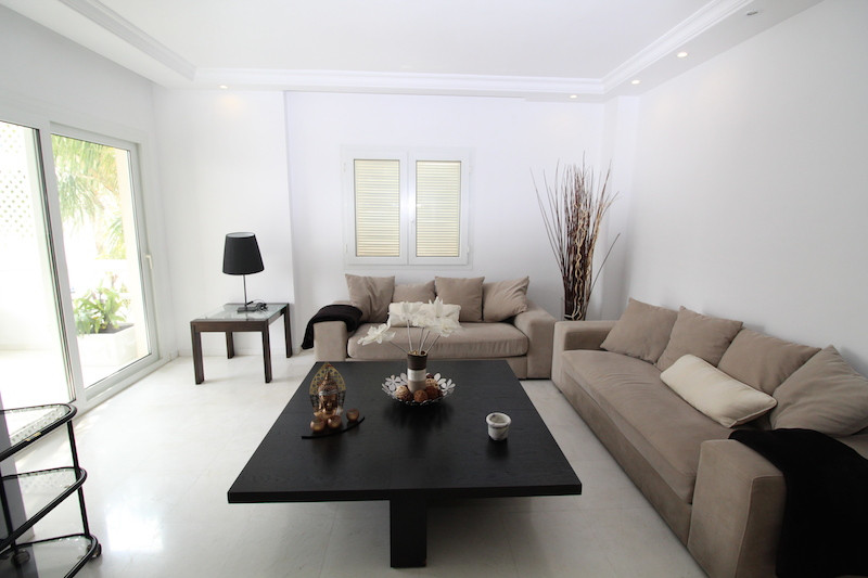 Apartment for rent in Marbella - Puerto Banus, Marbella with 3 bedrooms, 2 bathrooms and with orient, Spain