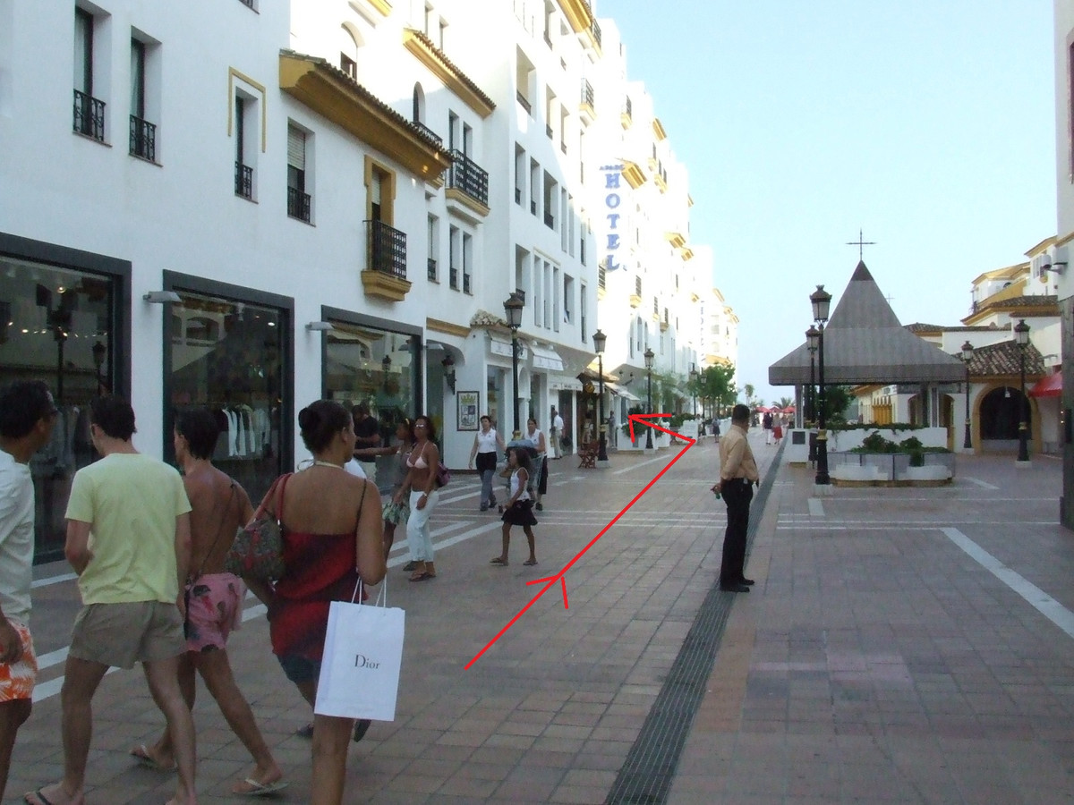 For Sale Commercial Shop in the heart of Puerto Banus.  Shop for sale, has 50 m2, with a frontage to, Spain