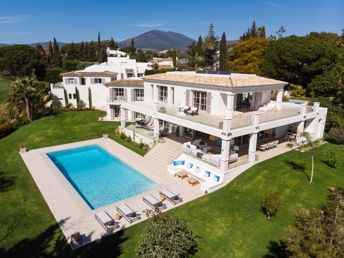 A contemporary mansion located on the front line of Aloha Golf in a gated community of luxury villas, Spain