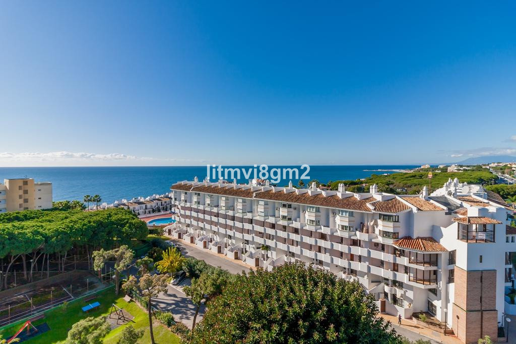 Ideal LOCATION just 50 meters from sandy beach. This large top floor (studio) apartament has a big a, Spain