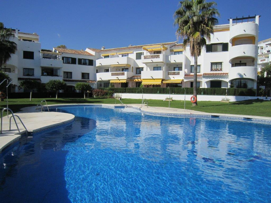Lovely large penthouse with a terrace with sun and great views down the coast to the Mediterranean. ,Spain