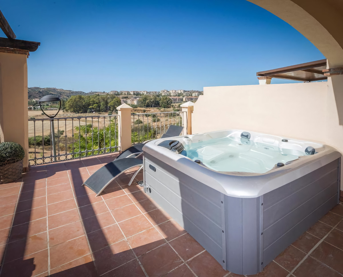 This beautiful west facing house has 4 bedrooms 3 bathrooms, large garage, small garden, large sunny,Spain