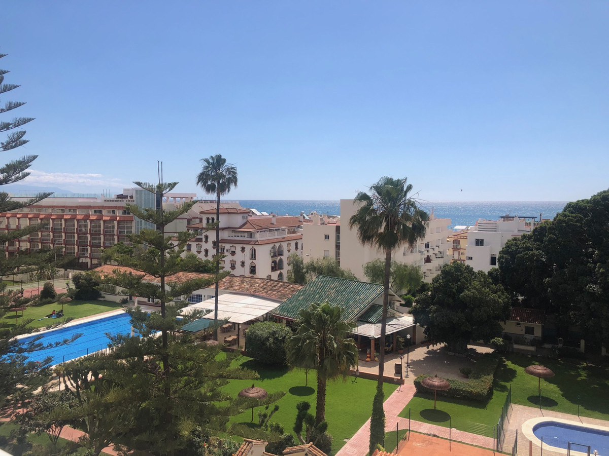Top floor studio with wonderful sea views Large compound in the middle of the Carihuela with tennis ,Spain
