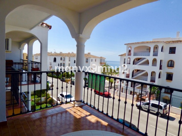 This south facing apartment enjoys sea views and sun on the terrace all day.  It has 2 bedrooms and , Spain