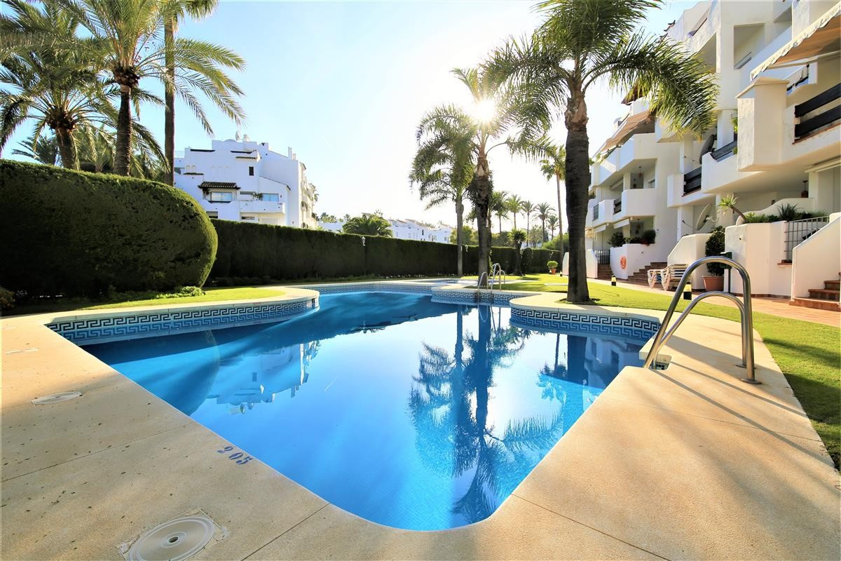 This is a good sized two bedroom apartment in Puerto Banus next to the Melia Dinard hotel. It has a , Spain