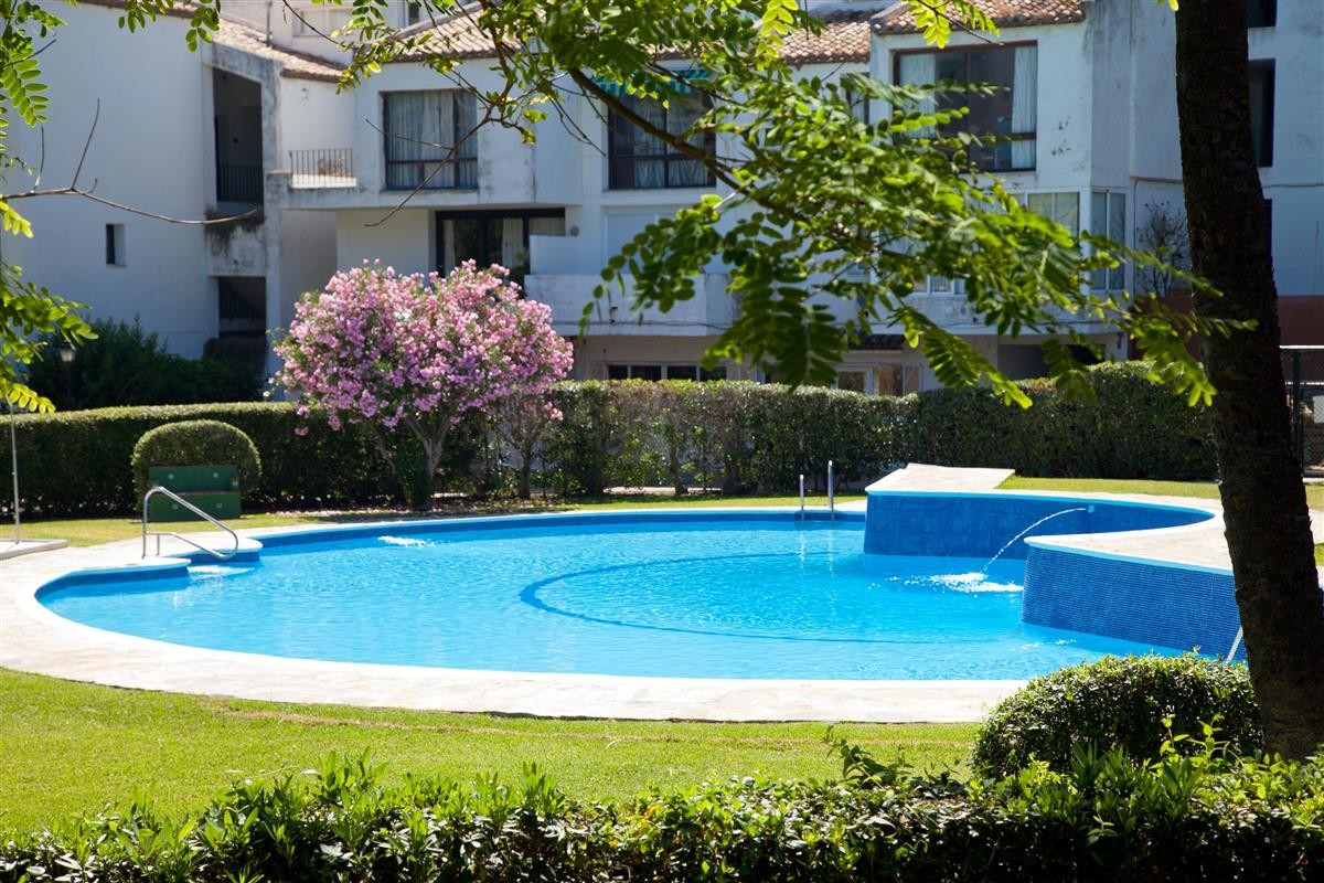 The nice two bed apartment is located just a few meters from the beach in Bahia Dorada 3, Estepona. , Spain