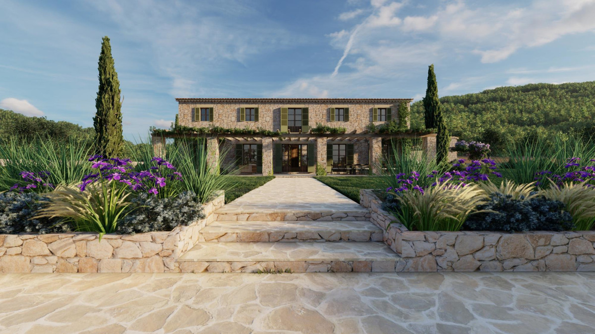Rustic plot with stunning position near to the Tramuntana Mountain range with planning permission to,Spain