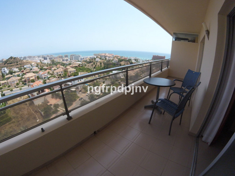 Spacious apartment with panoramic sea and mountain views. Access to the terrace from the living room and the bedroom. Nice and quiet community area with swimming pool and garden. Walking distance to the beach.  Middle Floor Apartment, Benalmadena Costa, Costa del Sol. 1 Bedroom, 1 Bathroom, Built 85 m², Terrace 8 m².  Setting : Close To Sea, Close To Town, Urbanisation. Condition : Excellent. Pool : Communal. Views : Sea, Mountain, Panoramic. Features : Lift, Fitted Wardrobes, Private Terrace, Disabled Access. Furniture : Fully Furnished. Kitchen : Fully Fitted. Garden : Communal. Parking : Open, Street, Communal. Category : Holiday Homes, Investment, Resale.