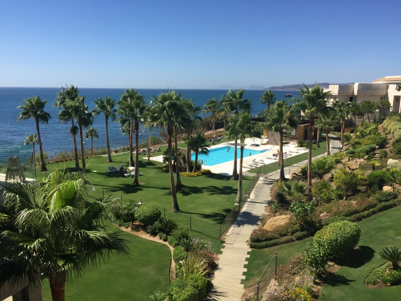 Location! Location! Location!  Penthouse for sale in a frontline beach development in Estepona West ,Spain