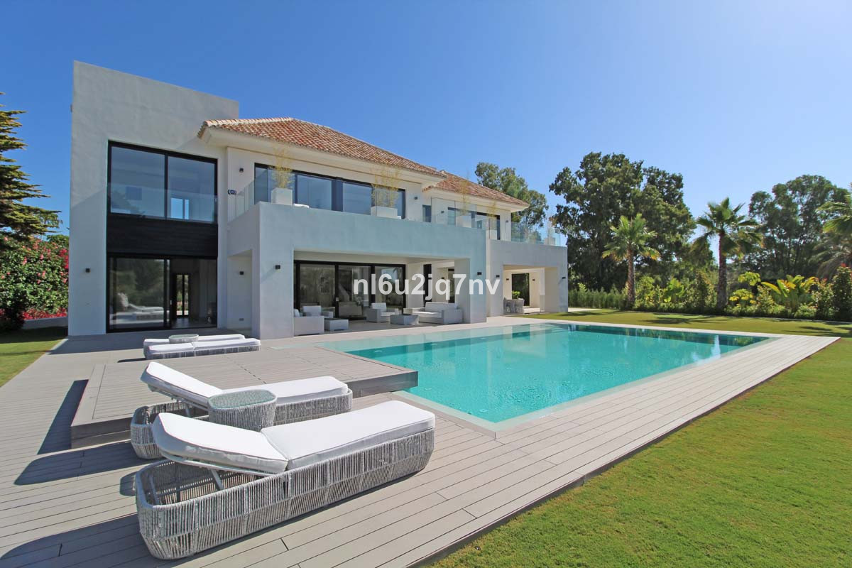 This luxury villa, where the construction has just completed, sits on a plot of 1,500 sqm and will o, Spain