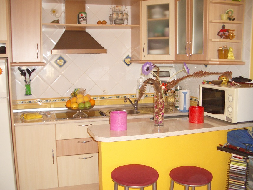 Central apartment with two bedrooms, fitted wardrobes, living room, equipped kitchenette, bathroom. , Spain