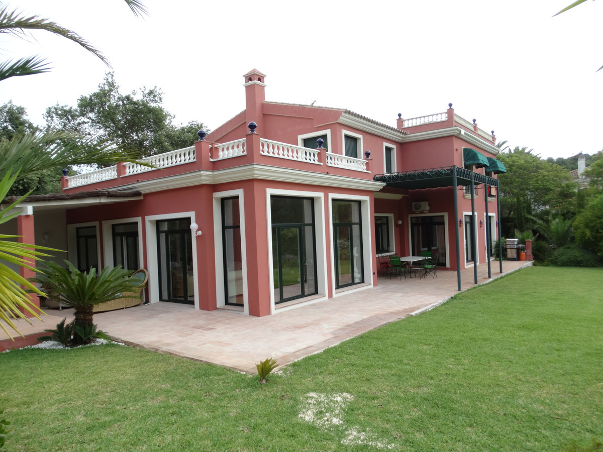 Sotogrande Alto: 5 bedroom family villa set within large landscaped garden with feature pond and all,Spain