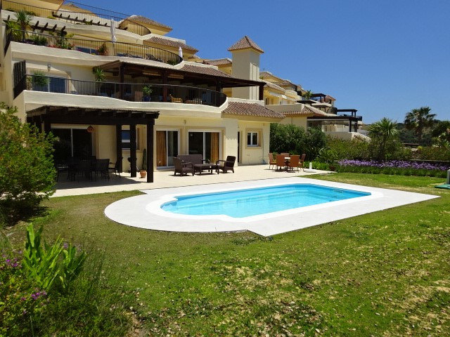San Roque Golf: large 3 bedroom garden apartment overlooking the old course at the fairway, with uns,Spain