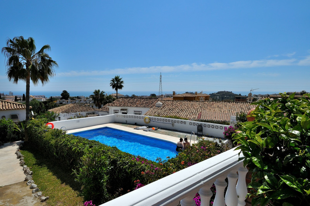Fantastic two bedroom and two bathroom Townhouse in Benalmadena with panoramic sea view and very lar,Spain
