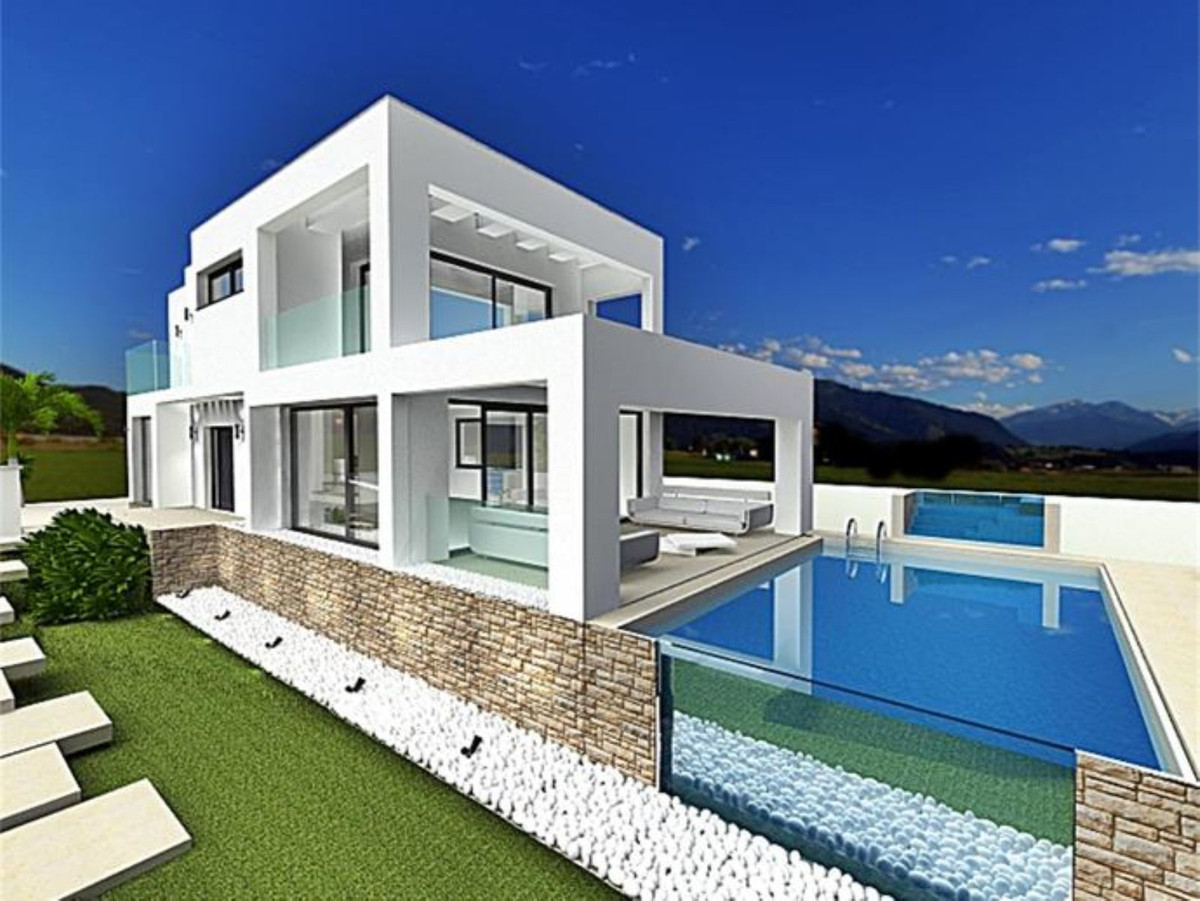Beautiful modern design Private Villa, with spectacular unique sea view, luxury glass walled swimmin,Spain
