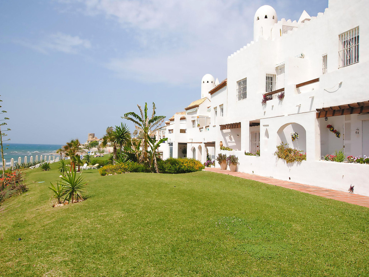 Lovely front line beach 3 bedrooms 2 bathroom duplex sought after development in Mijas Costa. Well d, Spain