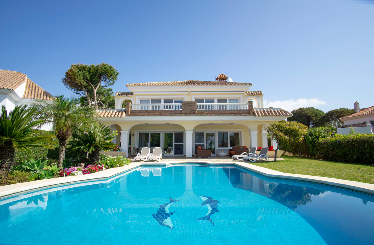 This luxury villa is located on the second line of the beach in Elviria, one of the most sought afte, Spain
