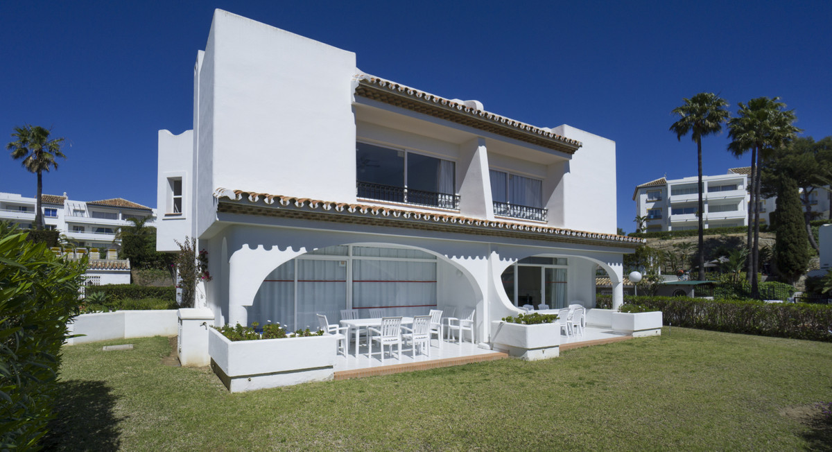 This very attractive semi-detached house is on two levels, has a garden for private use, maintained ,Spain